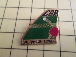 PIN1417 Pin's Pins / Belle Qualité Et Rare /  SPORTS : TENNIS DE TABLE PING-PONG LA ROCHELLE - Table Tennis
