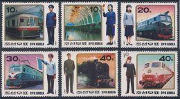 Korea North 1987 Mi 2871 /6 YT 1917 /2 ** Railway Uniforms /  Uniformen Von Eisenbahnangestellten - Treinen