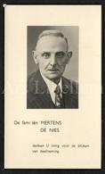 Doodsprentje / Bidprentje / Avis De Décès / Mortuaire / August Mertens / Gybels En Mertens / Halle / Borgerhout / 1949 - Décès