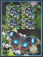 Aitutaki - WWF / BUTTERFLIES 2008 MNH - Aitutaki