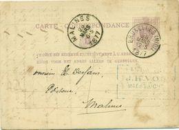 Briefkaart - Carte Correspondance Nr 9 - Afz. Librairie Internationale Catholique J. H. Vos Te Maestricht : 1877 - Imprimerie & Papeterie