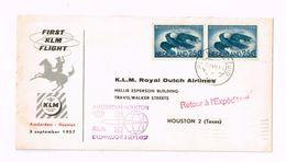 First KLM Flight Amsterdam-Houston - Luftpost