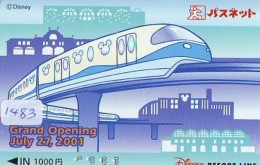 Carte Prépayée Japon  (1483)  DISNEY * RESORT LINE * GRAND OPENING * TRAIN  * JAPAN PREPAID CARD - Disney