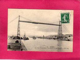 76 Seine Maritime, Rouen, Le Pont Transbordeur, Vue Prise De La Rive Gauche, Animée, Bateaux, (ND Phot) - Rouen