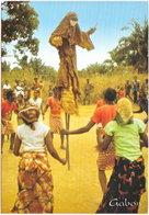 Gf. GABON. Danse Du Moukoudji Dans Un Village De La N'Gounié. 357 - Gabon