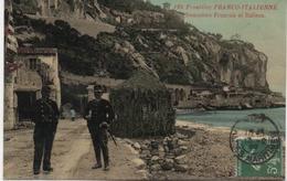 FRONTIERE FRANCO-ITALIENNE  DOUANIERS FRANCAIS ET ITALIENS  EN 1909 - Customs
