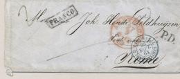 Nederland - 1864 - PD-Cover Van Amsterdam Via Di Mare Naar Rome / Italy - ...-1852 Voorlopers