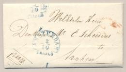 Nederland - 1849 - Amsterdam /Franco Op Compleet Vouwbriefje Naar Arnhem - ...-1852 Voorlopers