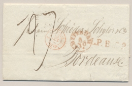 Nederland - 1839 - Compleet Vouwbriefje Van Amsterdam Naar Bordeaux / France - ...-1852 Voorlopers