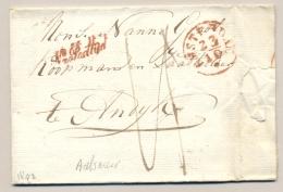 Nederland - 1843 - Compleet Vouwbriefje Van Amsterdam Na Posttijd Via Medemblik Naar Andijk - ...-1852 Voorlopers