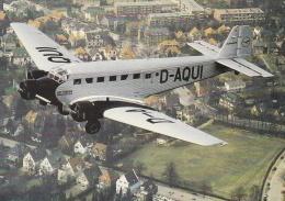 Postcard Airplanes: Junkers JU52 - Mint (T3-26) - Flugwesen