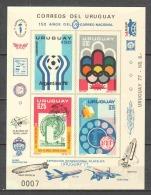 Uruguay 1976 Kleinbogen Mi 1402-1405 MNH SOCCER UPU - UPU (Union Postale Universelle)