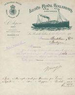 17 - La Rochelle-Pallice - Entête Du 29 Septembre 1910 - LLoyd Royal Hollandais Amsterdam: Agent S.Arpin - Transport