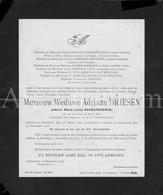 Doodsbrief / Lettre De Décès / Mortuaire / Maria Livina Scheurweghs / Boechout / Bouchout / Antwerpen / 1925 / 2 Scans - Décès