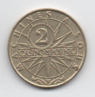 Jeton De Slot Machine à Sous : Casino De Pornic 2 Francs (Diamètre 25 Mm) - Casino