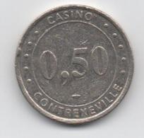Jeton De Slot Machine à Sous : Casino Contrexéville 0,50 Euro (Diamètre 26 Mm) - Casino