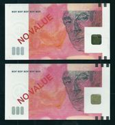 "Test Note ""BDF"" 500 Euros Testnote, MIS CUT By BDF To 200 Euro Note, RRRRR, UNC,  Echantillon, SPECIMEN - EURO"
