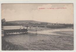 CPA- DAMERY -Le Barrage,Chute De La Marne (animée Personnages)-dép51-2scans - Autres Communes