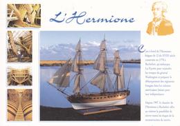 17  ROCHEFORT / CONSTRUCTION DE L'HERMIONE / PORTRAIT DE LA FAYETTE / PETIT HISTORIQUE - Rochefort