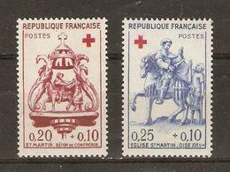 France - 1960 - Croix-rouge - Série Complète MNH - 1278/79 - Saint Martin - Ungebraucht