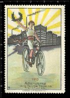 German Poster Stamp, Reklamemarke, Cinderella, Adlerwerke, Cycling, Radfahren. - Cycling