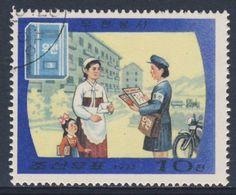 Korea North 1977 Mi 1630 Used - Postwoman Delivering Letter / Briefträgerin / Factrice - Postal Transport  Posttransport - Post