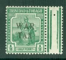 Trinidad & Tobago: 1917   Britannia 'War Tax' OVPT    SG177    ½d     MNH - Trinidad & Tobago (...-1961)