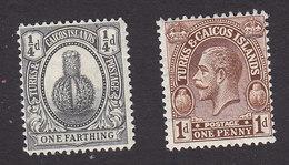Turks And Caicos, Scott #44, 46, Mint Hinged, Turk's Head Cactus, George V, Issued 1922 - Turks & Caicos