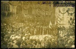 Cp Photo  Lorquin (57)  Fête De L'arbre En 1920,  Animée - Lorquin