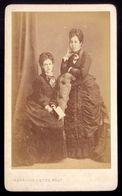 FOTOGRAFIA Da DUQUESA De SALDANHA E Sua Prima LEONOR De POMBAL. Fotografo HENRIQUE NUNES Lisboa PORTUGAL - Old (before 1900)