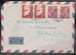 Germany1955:Michel215-6(pairs On Cover To US) - [7] République Fédérale