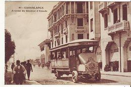 CPA - CASABLANCA - Avenue Du Général Amade (de Carnet) - Animée, Bus - Casablanca