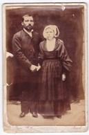 Ancienne Photo Couple Bretagne Finistère Brest - Personnes Anonymes