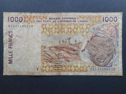 French West Africa 1000 Francs 2002 T (Togo) - États D'Afrique De L'Ouest