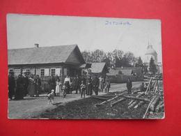 ESTONIA 1910 Type, Church, Settlement General View. Russian Photo Postcard. - Estonia