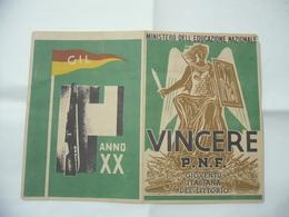 WW1 WW2 ITALIAN FASCIST PAGELLA OND PNF GIL . - Diplomi E Pagelle