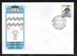 POLAND FDC 1996 SIGNS OF THE ZODIAC SERIES NO. 10 AQUARIUS WORKMAN IN WATER ASTROLOGY WODNIK - Astrologia