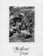 2 Cartes De Voeux : Pancarte OUAGADOUGOU, Maman Lavant Ses Enfants (20.84 - Ethniques, Cultures