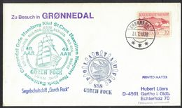 Z171   Greenland 1976 Gronnedal Gorch Foch Sailing Ship Cover - Unclassified
