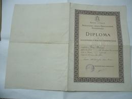 WW1 WW2 ITALIAN FASCIST DIPLOMA DI RAGIONIERE E PERITO COMMERCIALE. - Diplomi E Pagelle