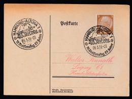 DR Postkarte Sonderstempel 1939 Hamburg Altona K1217 - Poststempel - Freistempel