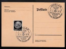 DR Postkarte Sonderstempel 1938 Goslar Ungelaufen K1513 - Poststempel - Freistempel