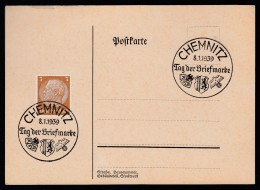 DR Postkarte Sonderstempel 1939 Chemnitz Ungelaufen K1542 - Deutschland