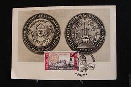 Tu-32 / Marcophilie (Lettres) - Enveloppe,  Carte Postale Belgique Liège Huy = Charte De Keur Van H...1966 - Maximum Cards