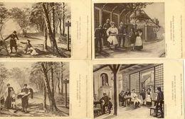Militaria - Patriotique - Chemin De France Lot De 6 Cartes - Mesaventure D'enfants Alsaciens - War 1914-18