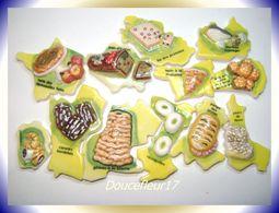 France Gourmande .. 12 Fèves Ou Unité ... Ref AFF : 123-2005 ...(pan 0019) - Regions