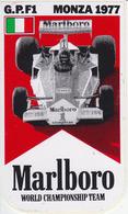 ADESIVO STICKER 1977 Gran Premio MONZA ITALIA Formula 1 F1 Alfa Romeo Ferrari Marlboro Grand Prix Automobilismo Racing - Stickers