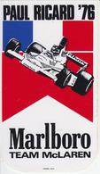 ADESIVO STICKER 1976 Gran Premio PAUL RICARD Formula 1 F1 Alfa Romeo Ferrari Marlboro Grand Prix Automobilismo Racing - Vignettes Autocollantes
