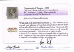 ANTICHI STATI ITALIANI TOSCANA 9 CRAZIE  LUIGI GUIDO VARIETA' DIFETTO COSTANTE SASSONE 8C - Toscane