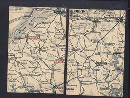 Dt. Reich 2 PK Landkarte Das Ermland - Ostpreussen